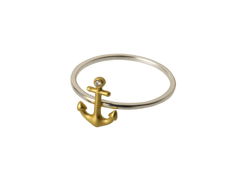 Anchor Ring with Diamond