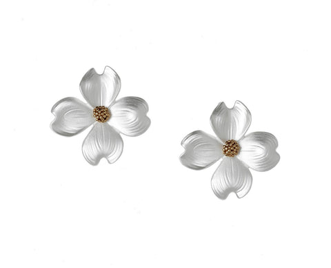 Dogwood Post or Clip Earrings