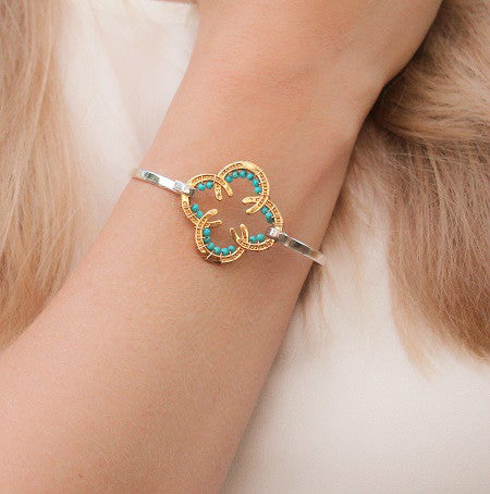 Horseshoe Bracelet with Stones
