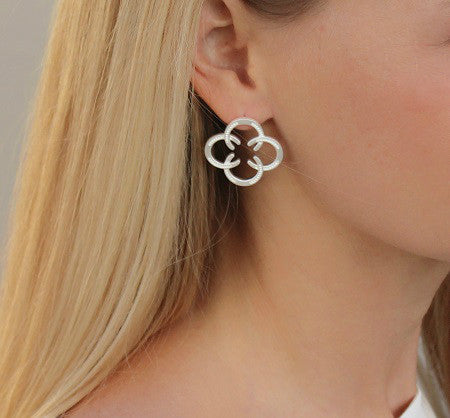 Horseshoe Post Earrings