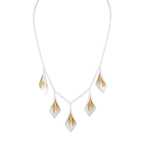 Calla Lilly Two-Tone Necklace