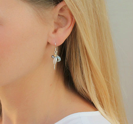 Leaf Cluster Silver Earrings