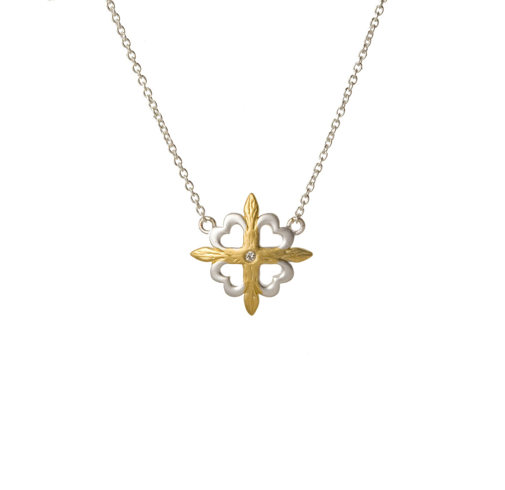 Fleur de Lis Necklace with Diamond