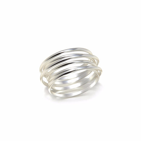 Multi Wrap Silver Ring
