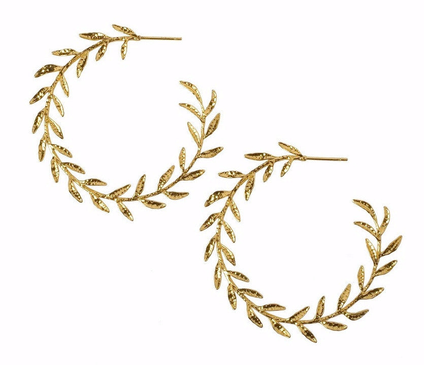 Wreath Hoop Earrings