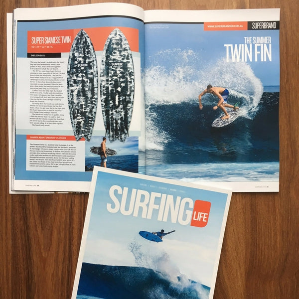 Surfing Life Magazine Reviews the Superbrand Siamese Twin
