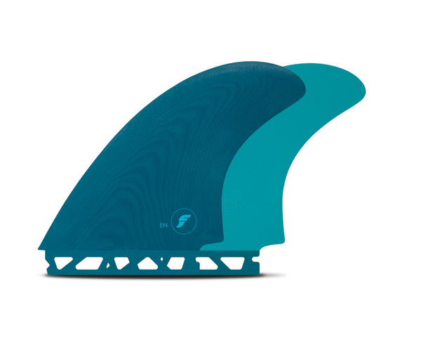 Futures EN Twin fin set - Aqua Blue / Green