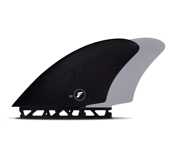 Futures K2 Keel Twin fin set - Black / Grey