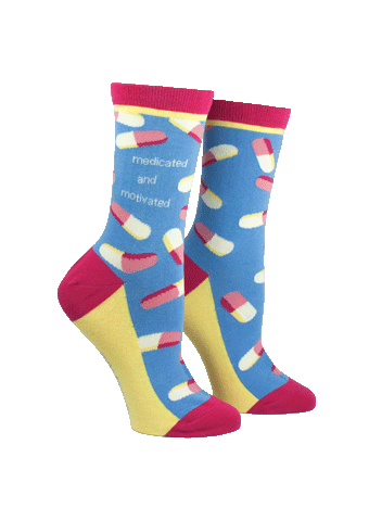 """Medicated and Motivated"" Women's Socks"