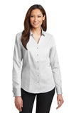 Business Ladies French Cuff Non-Iron Pinpoint Oxford Shirt by Red House®