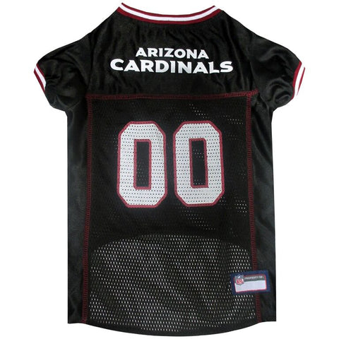 Arizona Cardinals Dog Jersey with Red Trim