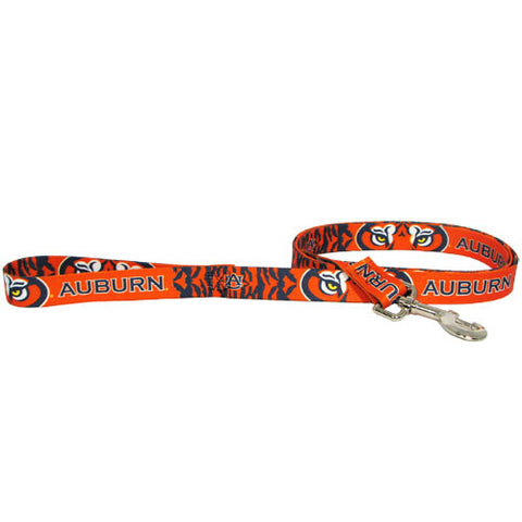 Auburn Dog Leash with Ribbon Trim
