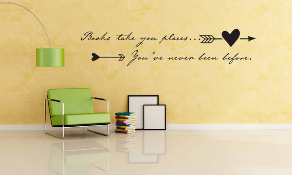 Books Take You Places Wall Decal