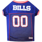 Buffalo Bills Dog Jersey with Red Trim