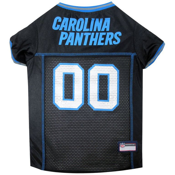 Carolina Panthers Dog Jersey with Blue Trim