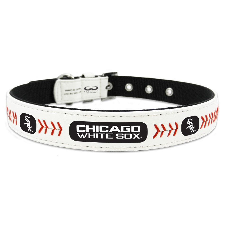 Chicago White Sox Dog Collar in Leather