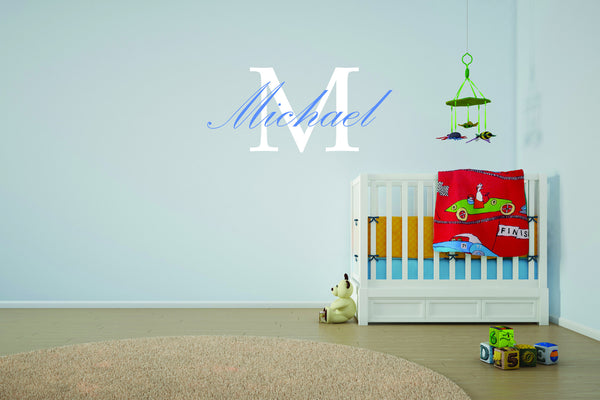 Custom Child's Name and Initial Wall Decal