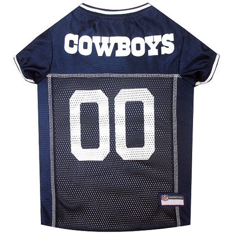 Dallas Cowboys Dog Jersey - White Trim