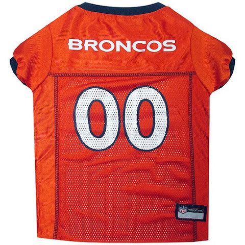 Denver Broncos Dog Jersey - Orange