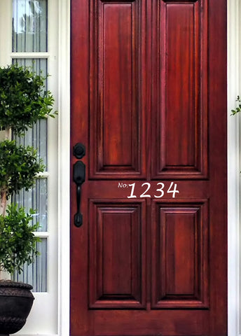 Front Door Decals - Door Number