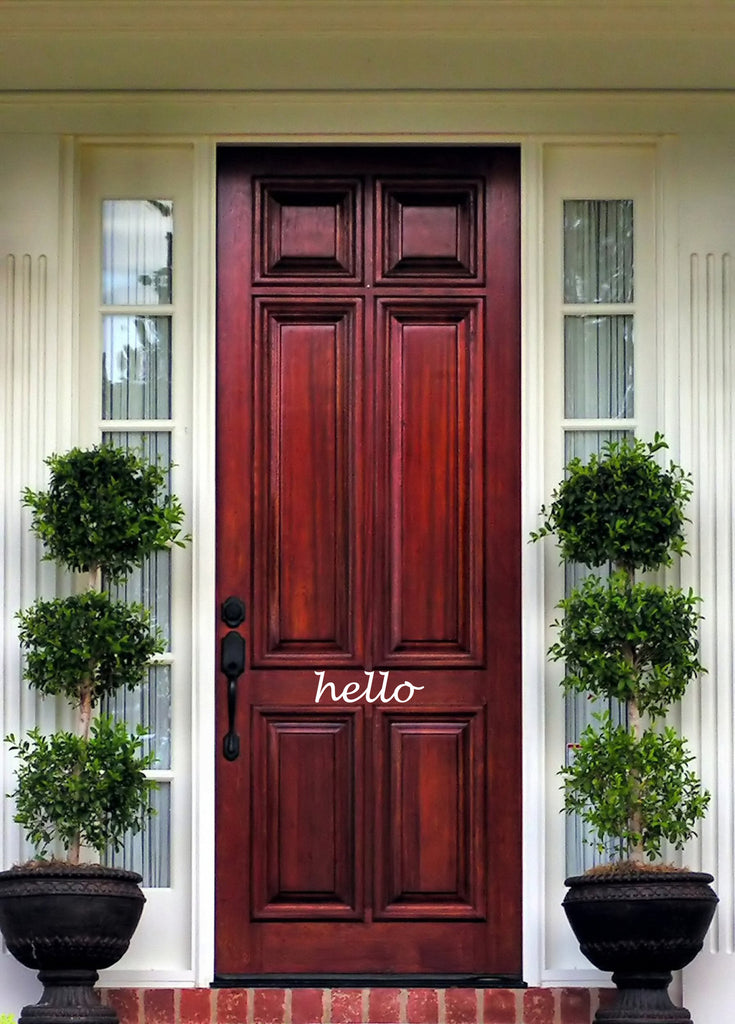 Front Door Decals - Hello