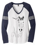 Custom Long-Sleeve Raglan Ringspun Cotton Shirt