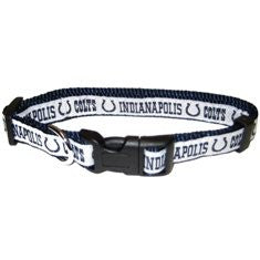 Indianapolis Colts Dog Collar with Ribbon