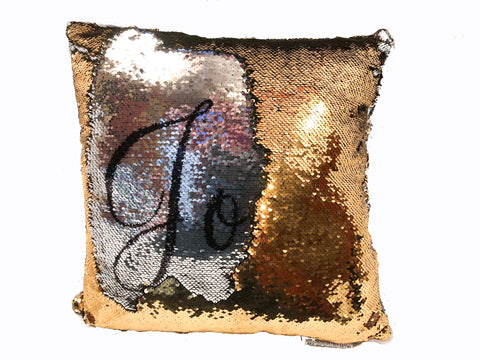 Magic Sequin Pillow with Hidden Name or Message
