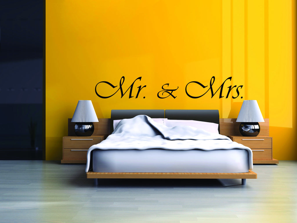 Mr. & Mrs. Wall Decal