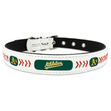 Oakland Athletics Dog Collar in Leather