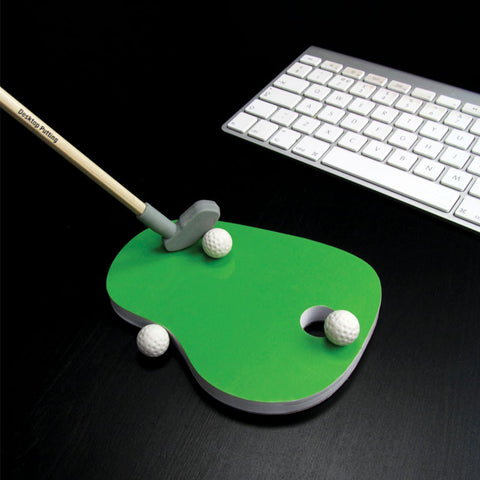 Desktop Putting Green Stationary Set