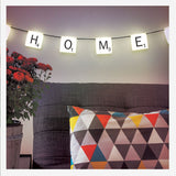 Scrabble Hanging Light String