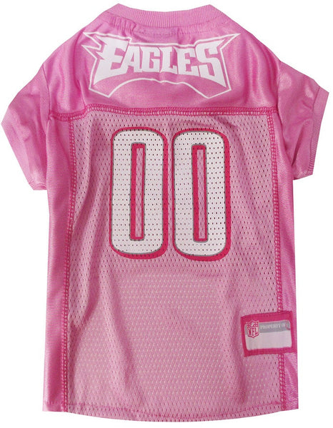 Philadelphia Eagles Dog Jersey in Pink