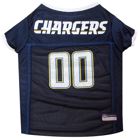 San Diego Chargers Dog Jersey with White Trim