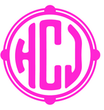 Custom Circle Monogram Decal