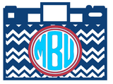 Chevron Camera Custom Monogram Decal