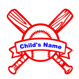 Custom Child's Baseball Name Vinyl Decal