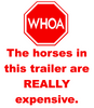 WHOA Horse Trailer Vinyl Decal
