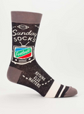 """Sunday Socks"" Men's Crew Socks"