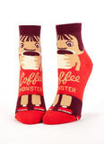 """Coffee Monster"" Women's Ankle Socks"