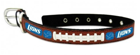 Detroit Lions Leather Dog Collar