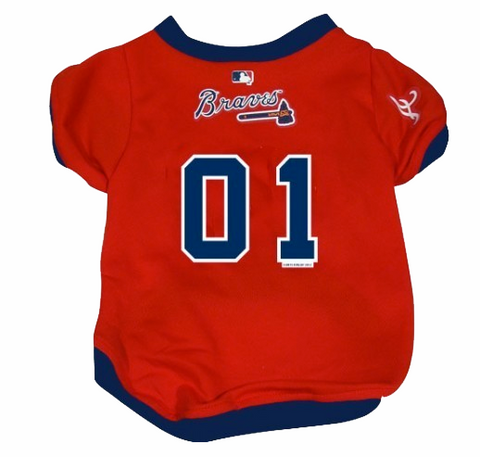 Atlanta Braves Dog Jersey in Red