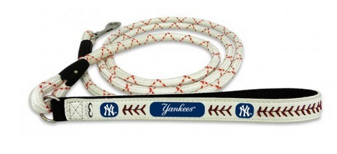 New York Yankees Leather Dog Leash