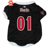Arizona Diamondbacks Dog Jersey with White Trim