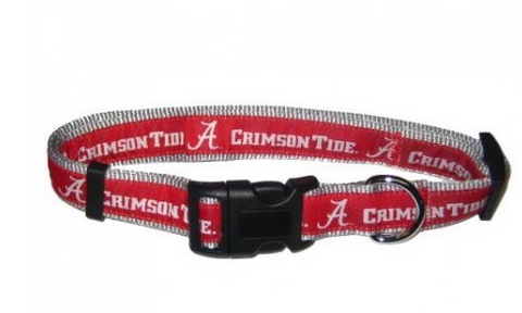 Alabama Dog Collar with Ribbon Trim