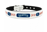 Seattle Mariners Dog Collar in Leather