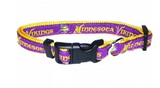 Minnesota Vikings Dog Collar with Ribbon Trim