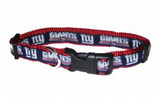 New York Giants Dog Collar with Ribbon Trim