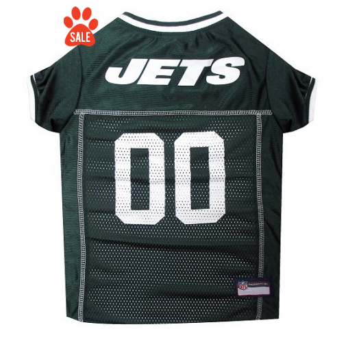 New York Jets Dog Jersey with White Trim