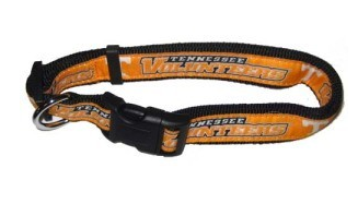 Tennessee Volunteers Dog Collar with Ribbon Trim